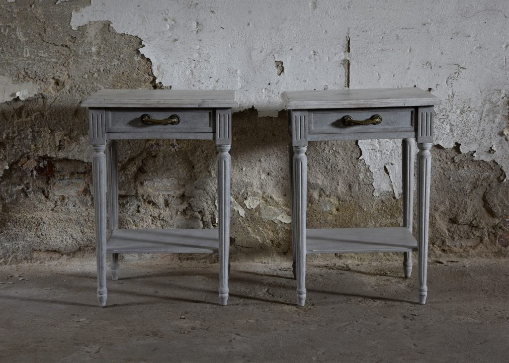 A pair of bedside tables in the Gustavian Style M-51019