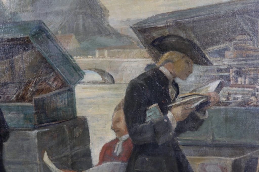 Painting by Danish painter Valdemar Neiiendam, A-612