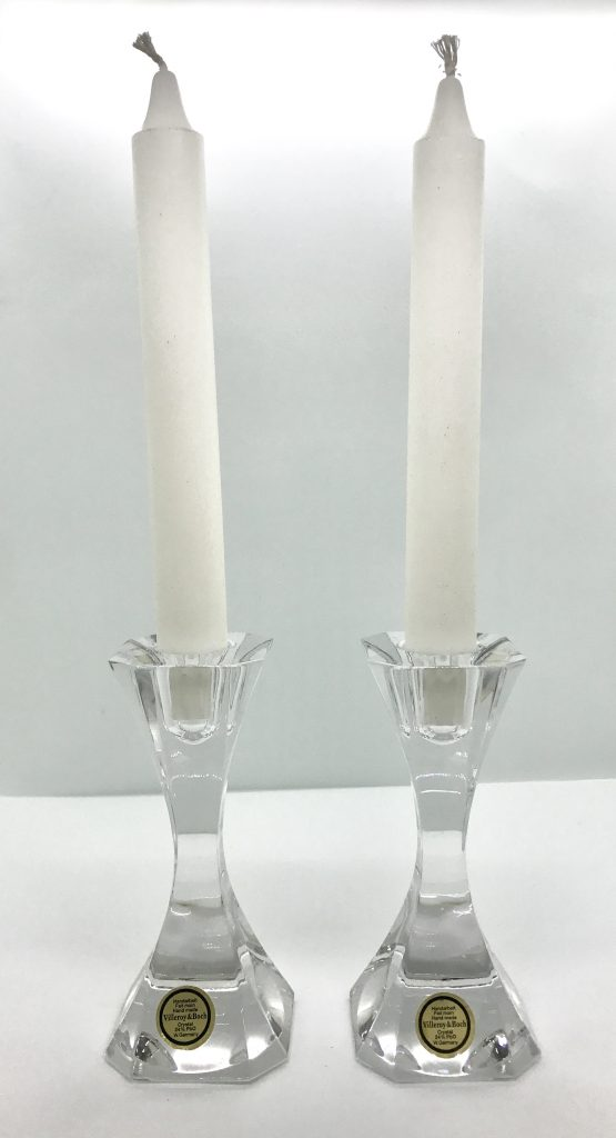 A pair of crystal candlesticks from  Villeroy & Boch, D-244